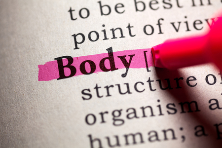 Fake Dictionary, Dictionary definition of the word body. Reklamní fotografie