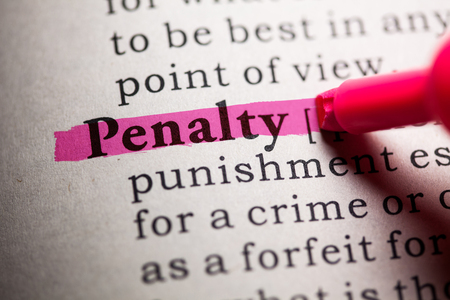 Fake Dictionary, Dictionary definition of the word penalty.