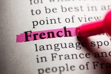가짜 사전, 프랑스어 단어 사전 정의.