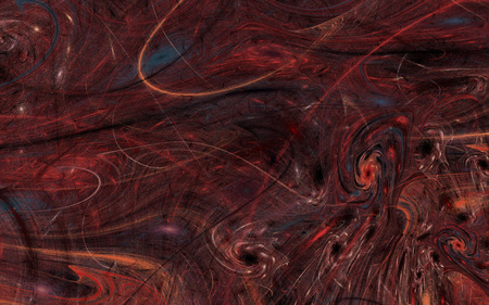 Abstract red blue fractal texture background,  concept of universe.