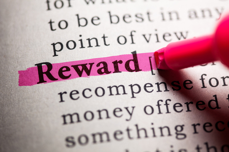Fake Dictionary, Dictionary definition of the word reward. Reklamní fotografie