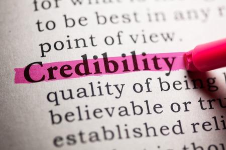 가짜 사전, 단어 신뢰성에 대한 사전 정의.
