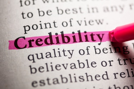 Fake Dictionary, Dictionary definition of the word credibility. Reklamní fotografie