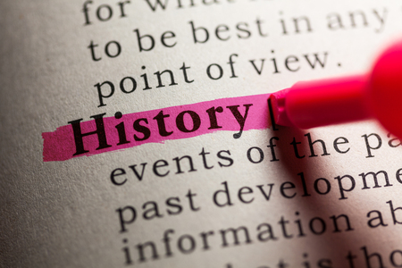 dictionary definition: Fake Dictionary, definition of the word history.