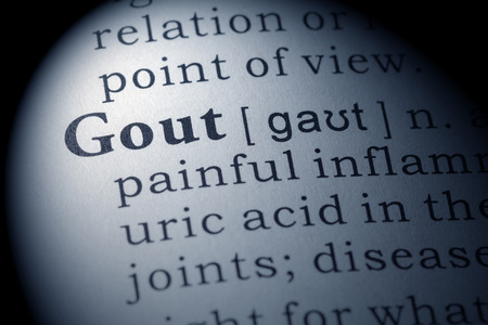 printing out: Fake Dictionary, Dictionary definition of the word gout.