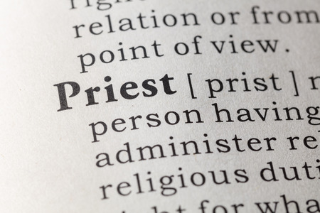 Fake Dictionary, Dictionary definition of the word priest.