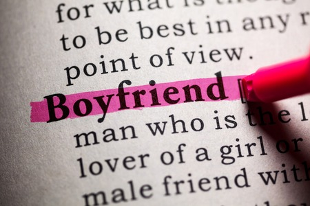 Fake Dictionary, Dictionary definition of the word boyfriend. Reklamní fotografie