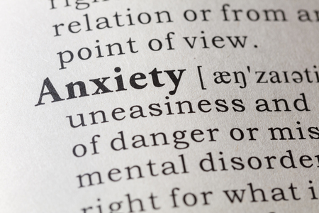 dictionary definition: Fake Dictionary, Dictionary definition of the word anxiety.