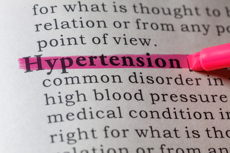 dictionary definition: Fake Dictionary, Dictionary definition of the word hypertension.