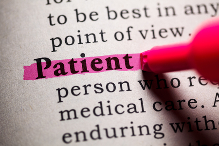 dictionary definition: Fake Dictionary, Dictionary definition of the word Patient.