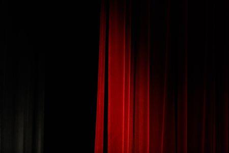red theater curtain with soft lighting 版權商用圖片