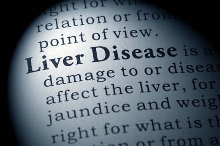 Fake Dictionary, Dictionary definition of the word liver disease. including key descriptive words. Imagens