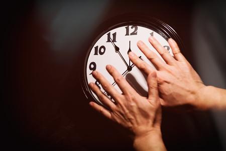 壁時計の文字盤、時間管理の概念 写真素材