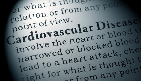 Nep woordenboek, woordenboekdefinitie van het woord hart- en vaatziekten. inclusief sleutelbeschrijvende woorden. Stockfoto - 74760453