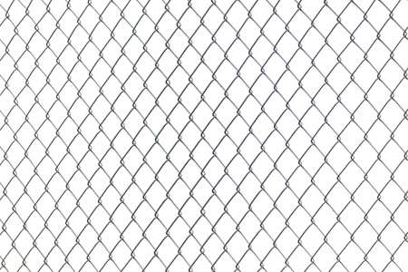 steel metal Chainlink Fence with white background
