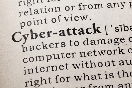 Fake Dictionary, Dictionary definition of the word cyber-attack. including key descriptive words.