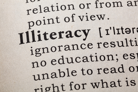 illiteracy: Fake Dictionary, Dictionary definition of the word illiteracy. including key descriptive words.