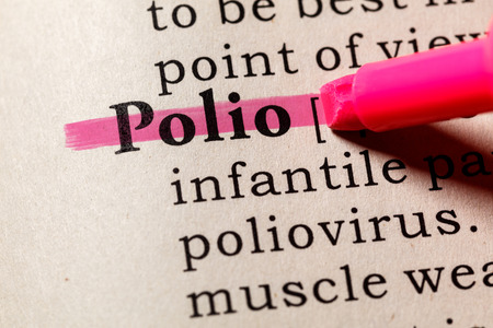 Fake Dictionary, Dictionary definition of the word Polio. including key descriptive words.