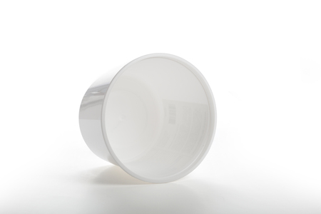 White plastic tub bucket container isolated on a white background, close up Banco de Imagens - 105006211