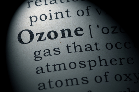 Fake Dictionary, Dictionary definition of the word ozone. including key descriptive words.