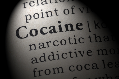 Fake Dictionary, Dictionary definition of the word cocaine. including key descriptive words.