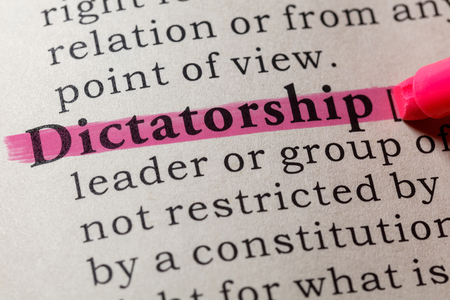 Fake Dictionary, Dictionary definition of the word dictatorship. including key descriptive words. Imagens