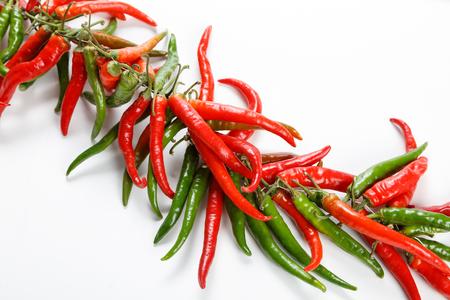 Hot red chili or chilli pepper ristra 写真素材