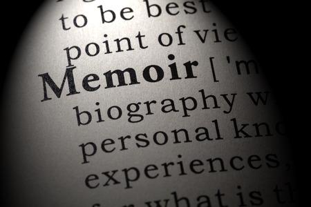 Fake Dictionary, Dictionary definition of the word memoir . including key descriptive words.