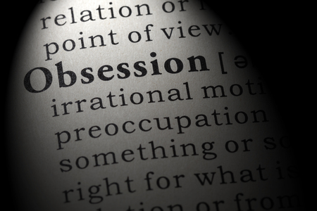 Fake Dictionary, Dictionary definition of the word obsession . including key descriptive words.