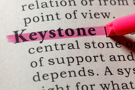 Fake Dictionary, Dictionary definition of the word keystone . including key descriptive words.