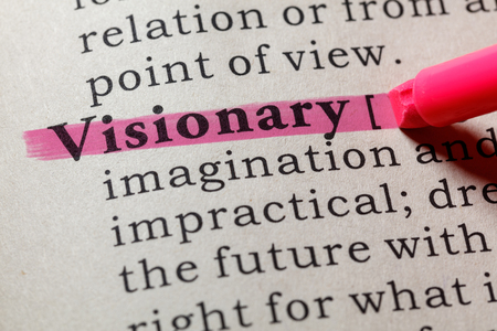 Fake Dictionary, Dictionary definition of the word visionary . including key descriptive words.