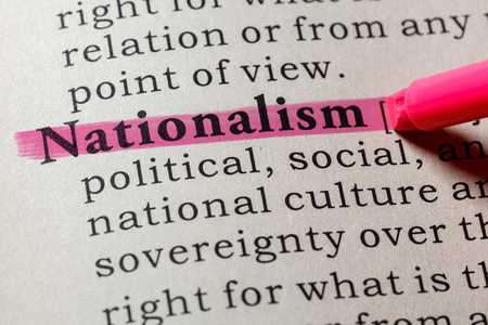 Fake Dictionary, Dictionary definition of the word nationalism . including key descriptive words.