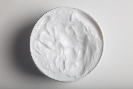 white cosmetic cream for facial and skin care.