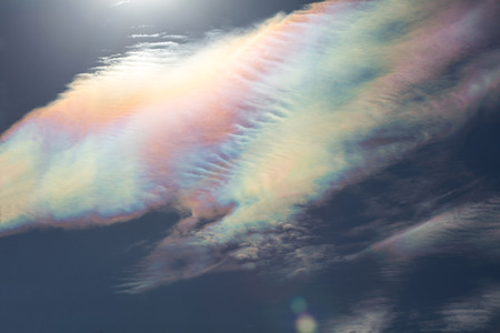 colorful cloud iridescence at Vancouver BC Canada