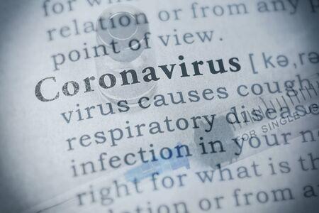 Fake Dictionary, Dictionary definition of coronavirus. Imagens