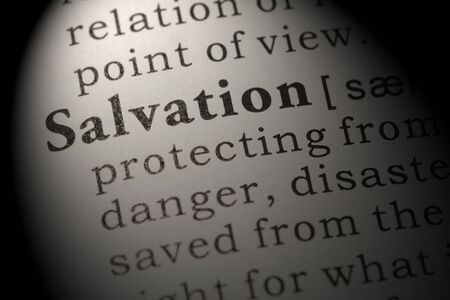 Fake Dictionary, Dictionary definition of salvation. 版權商用圖片