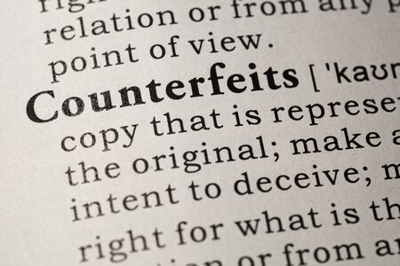 Fake Dictionary, Dictionary definition of counterfeits.