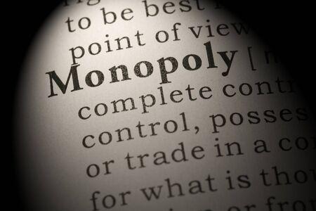 Fake Dictionary, Dictionary definition of word monopoly. Foto de archivo