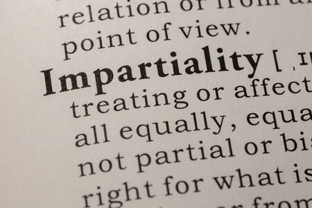 Fake Dictionary, Dictionary definition of word impartiality.