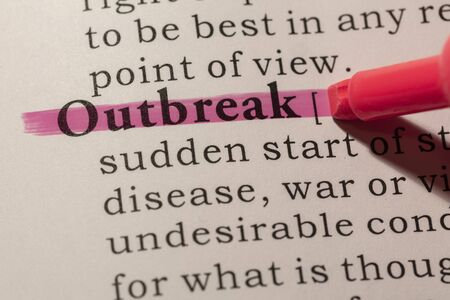 Fake Dictionary, Dictionary definition of word outbreak.