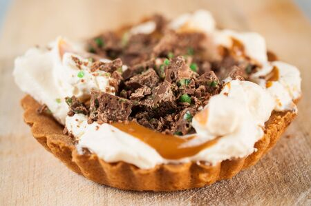 Close up of Peppermint Crisp Tart Stock Photo