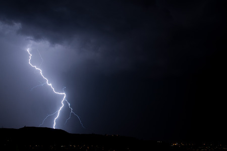 Lightning, Weather and Storms in night skies Stock Photo - 45306327