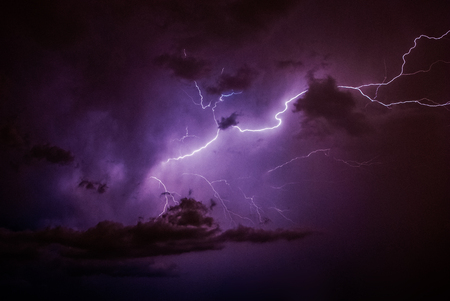 Lightning, Weather and Storms in night skies Stock Photo - 45306345