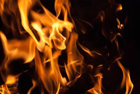 log fire: Fiamme tremolanti da una stufa a legna