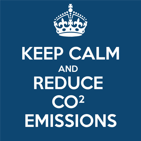 Keep Calm and Reduce CO2 Emissions Stock Photo