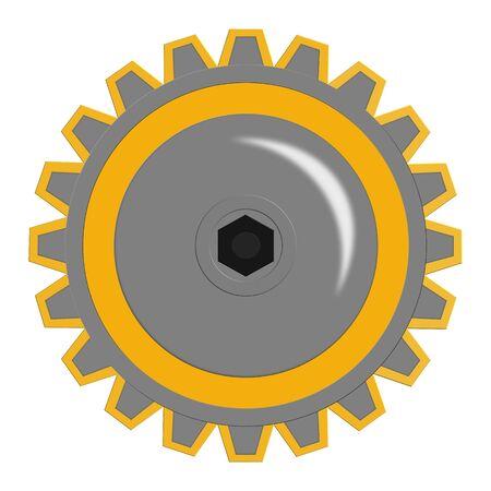 Yellow Gear Cog