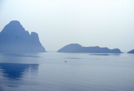 islands in a calm sea
