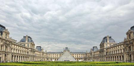 Panorama of Louvre museum (Paris)