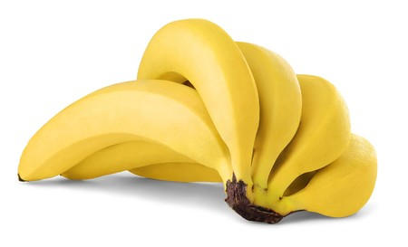 banane: BuNC de bananes isol� sur fond blanc Banque d'images