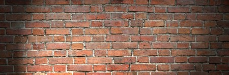 Old brick wall panorama photo